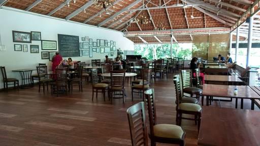 Cafe Vishala at the art of living ashram